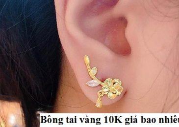 Bông tai vàng 10k giá bao nhiêu 2021? 10+ Mẫu mới đẹp nhất