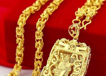 Dây chuyền vàng nam 24k 1 cây, 2 cây, 3 cây, 4,5 cây giá bao nhiêu?