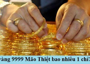 Giá vàng 9999 mão thiệt ngày hôm nay bao nhiêu 1 chỉ 2021