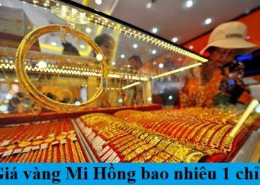 Giá Vàng Mi Hồng Hôm Nay Bao Nhiêu Tiền 1 Chỉ 2021?